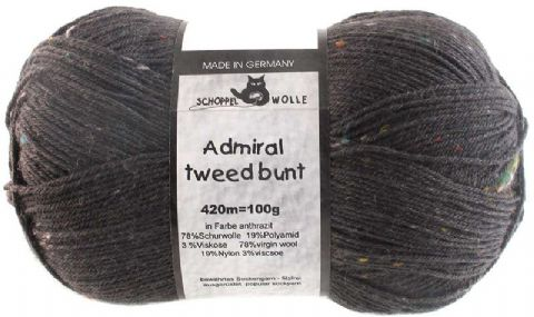 ADMIRAL TWEED BUNT anthracite 8805